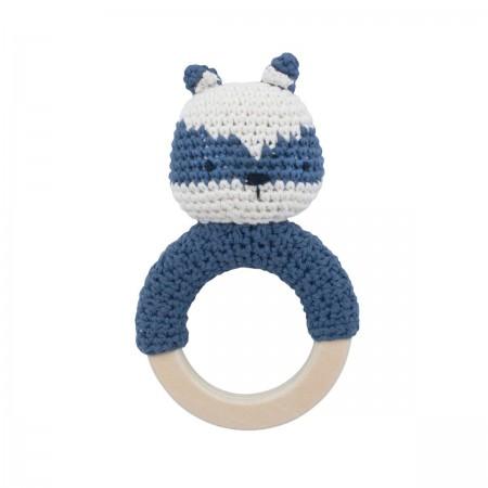Hochet raton laveur en crochet