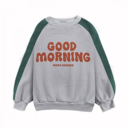 """Sweat """"Good Morning"""" gris..."""