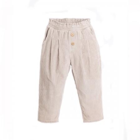Pantalon velours écru en...