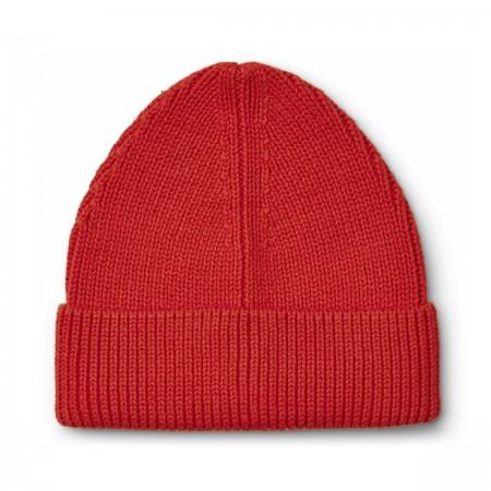 """Bonnet """"Ezra"""" coton bio rouge"""