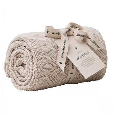 Couverture en coton blush rose