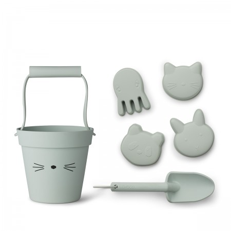 Set seau de plage chat mint