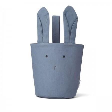 Panier de rangement lapin bleu