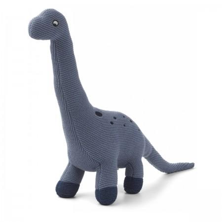"Peluche Dino ""Brachio"" bleu"