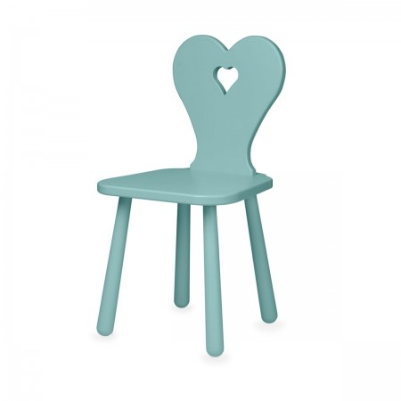 "Chaise ""Heart"" canal green"