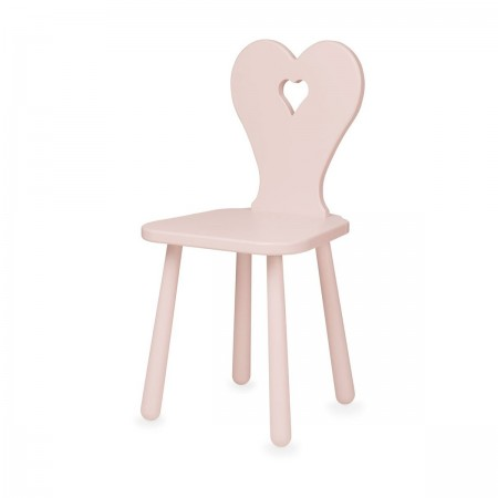 "Chaise ""Heart"" rose"