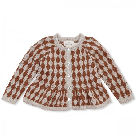 "Cardigan ""Meomi"" marron"