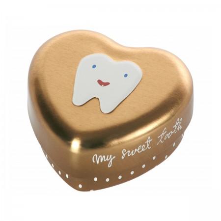 Boîte à dents de lait doré