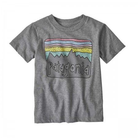 "T-shirt ""Fitz Roy Skies"" gris"