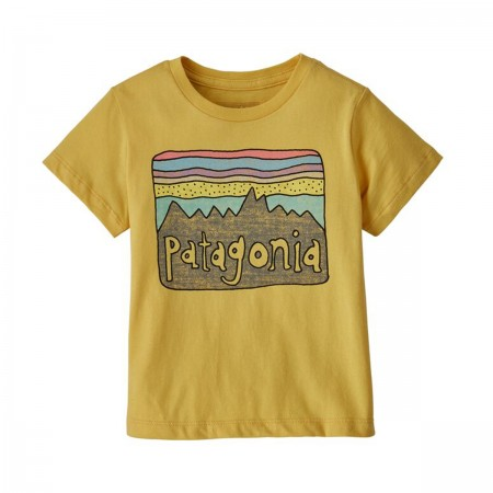 "T-shirt ""Fitz Roy Skies"" jaune"