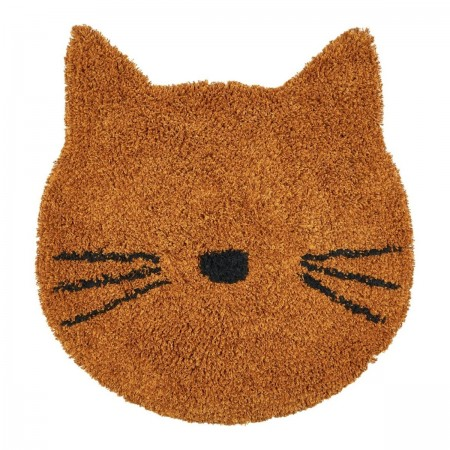 Tapis Chat moutarde