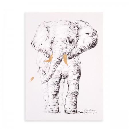 """Tableau peinture """"Elephant"""""""