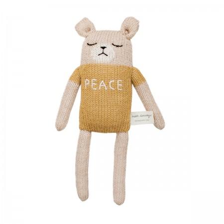 "Ourson moutarde ""peace"""