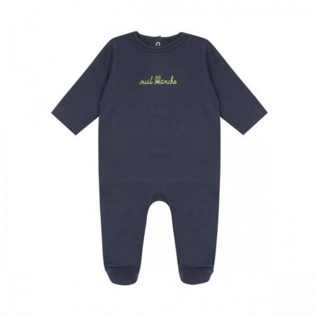 "Pyjama ""Nuit Blanche"" marine"