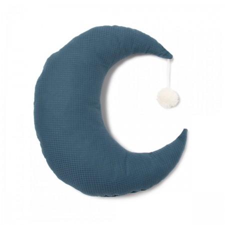 Coussin lune bleu Pierrot