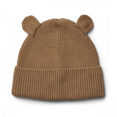 """Bonnet """"Gina"""" coton bio camel"""