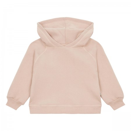 "Sweat à capuche ""Citron"" rose"