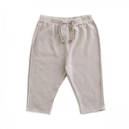 Pantalon en coton bio taupe