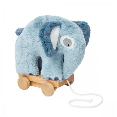 Eléphant bleu à tirer