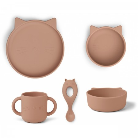 Set repas Chat silicone...