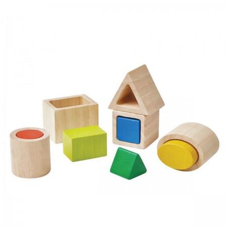 Boîte géometrique en bois