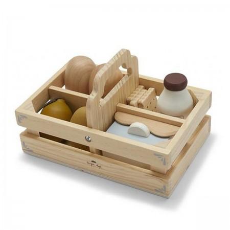 Caisse à aliments en bois