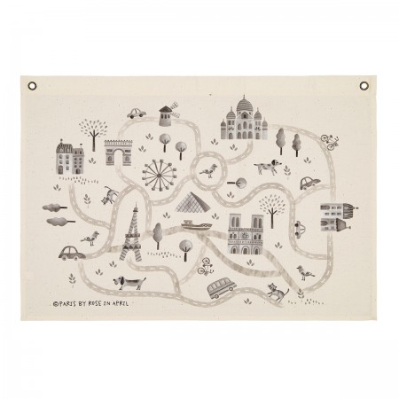 "Carte en canevas ""Paris"" by..."