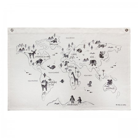 "Carte en canevas ""Monde"" by..."