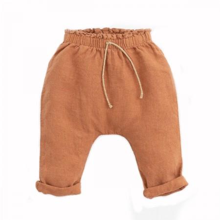 """Pantalon lin """"Botany"""" Terre"""