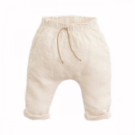 "Pantalon lin ""Botany"" Crème"