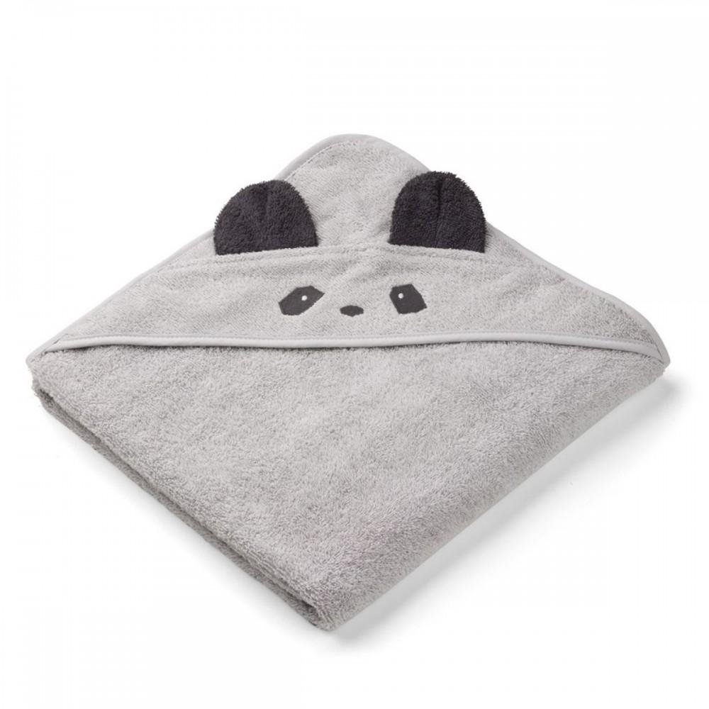a5b5b6f6f4a Cape de bain Augusta panda gris de la marque danoise Liewood