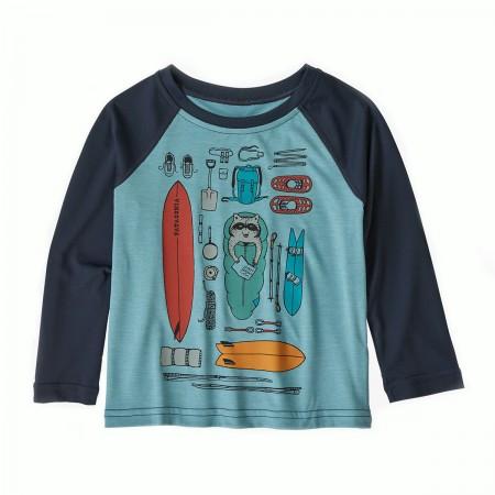 T-shirt anti UV Patagonia bleu